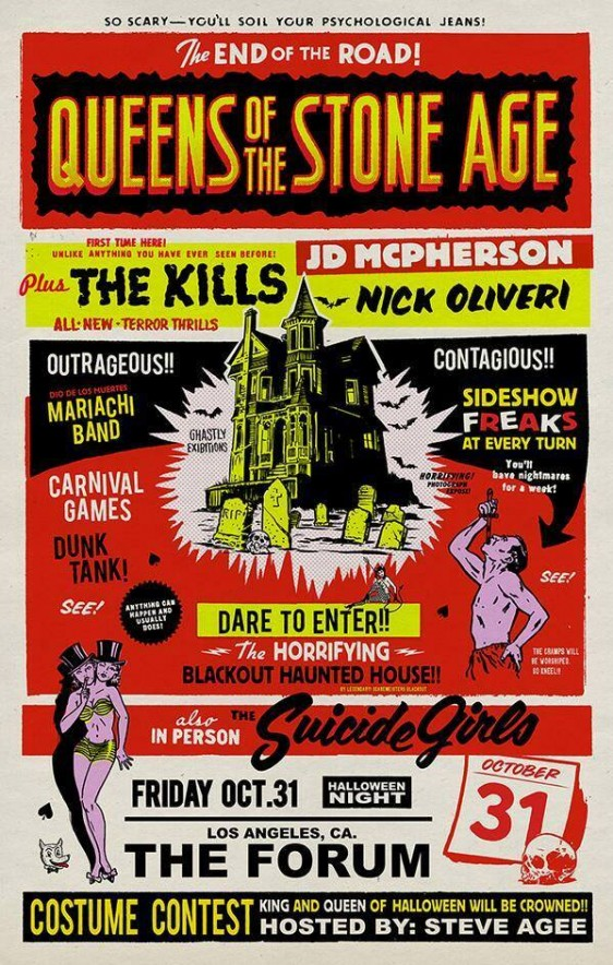 LA Halloween show with Queens of the Stone Age!
