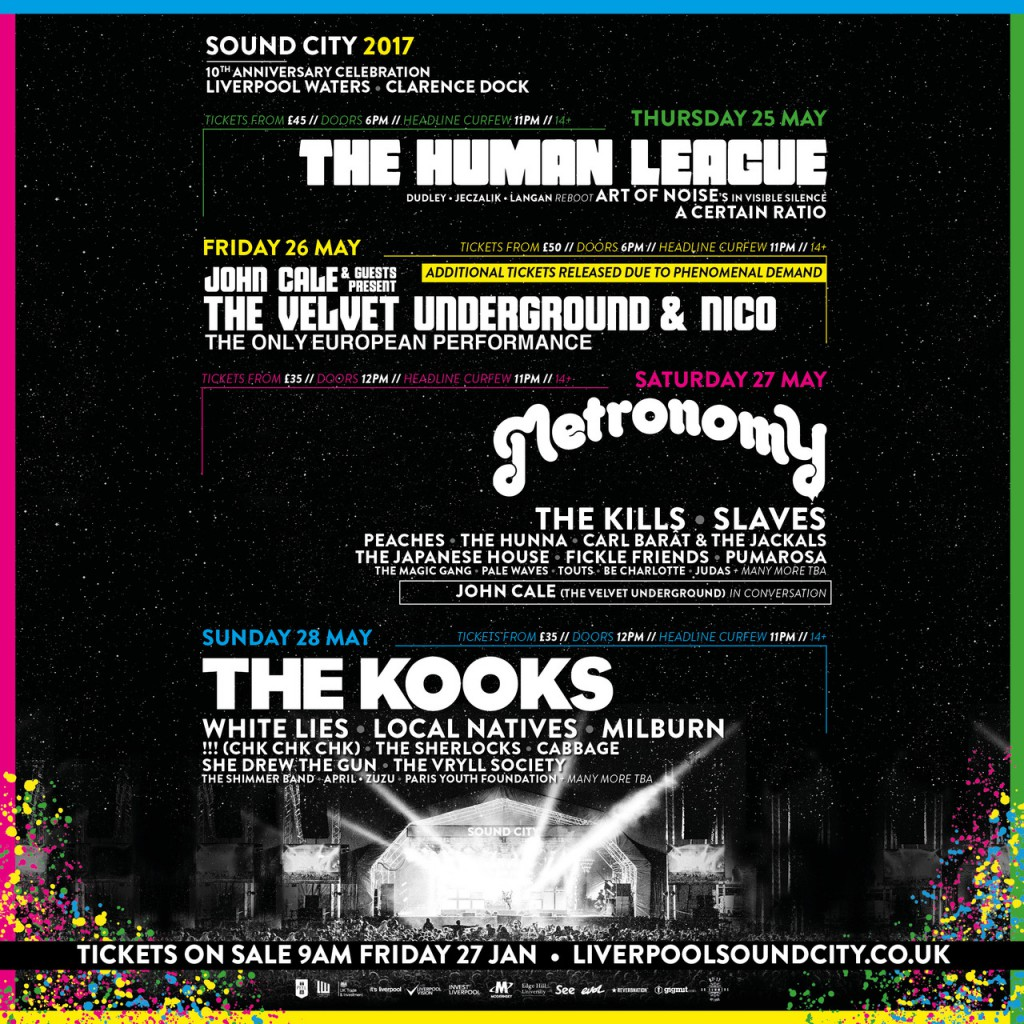 Just announced! Liverpool Sound City May 2017