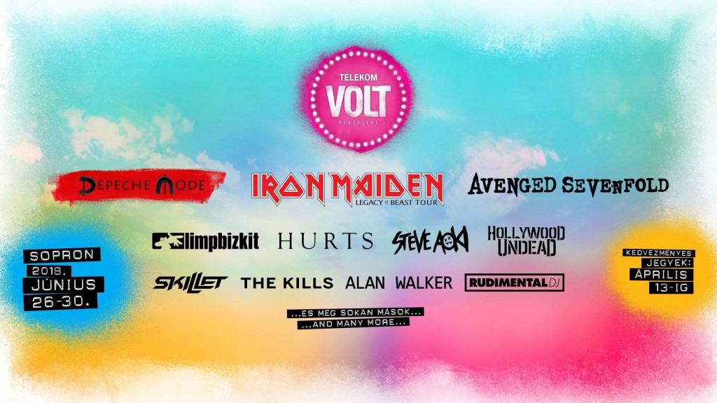 Just added: Friday 29th June 2018 Volt Festival, Budapest, Hungary