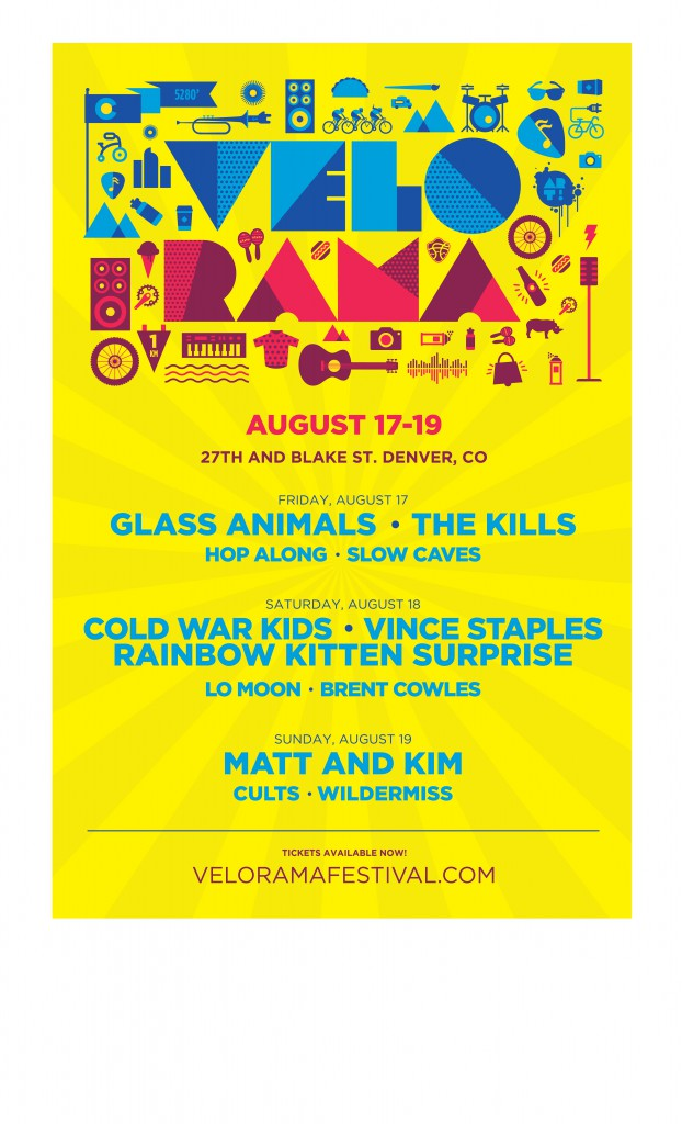Velorama, Denver – day line ups announced.