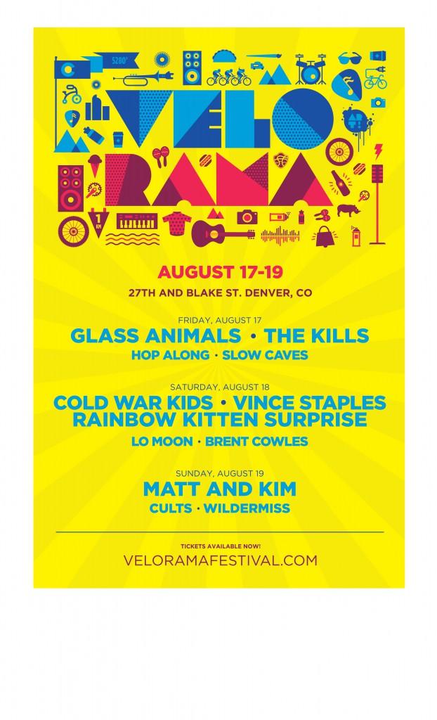 Velorama, Denver – day line ups announced.